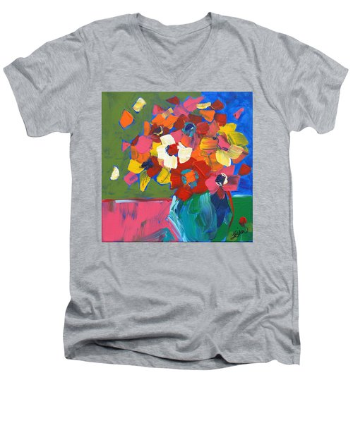 Abstract Vase Men's V-Neck T-Shirt