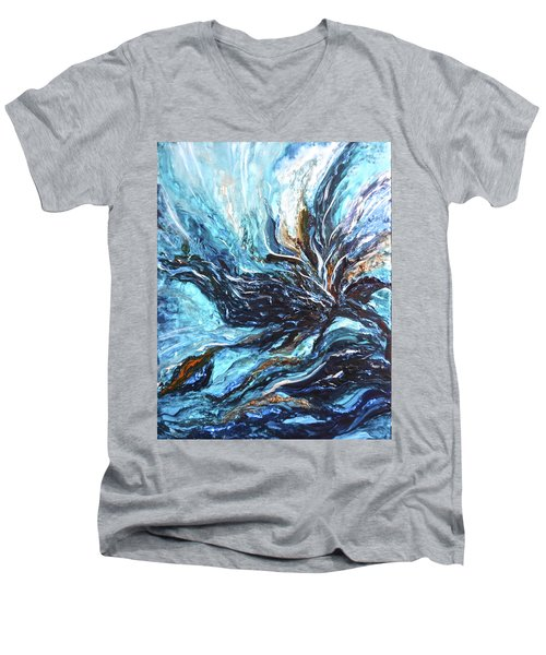 Abstract Water Dragon Men's V-Neck T-Shirt