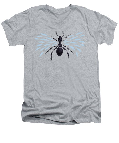 Abstract Winged Ant Men's V-Neck T-Shirt