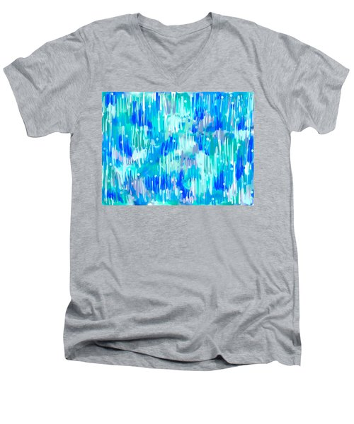 Abstract Winter Men's V-Neck T-Shirt