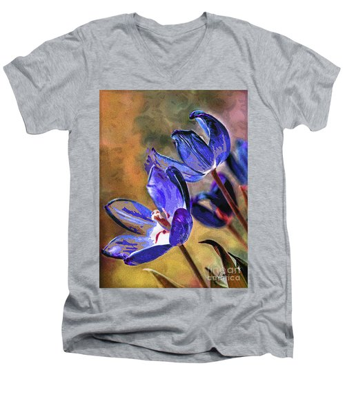 Abstracticus Tuliptimus Men's V-Neck T-Shirt