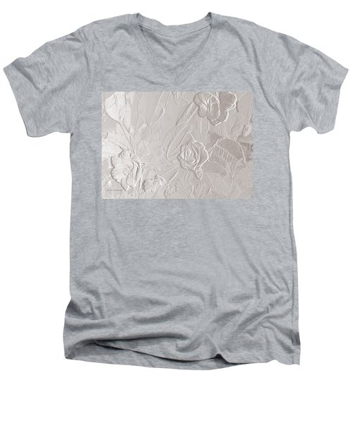 Accents Of Love Men's V-Neck T-Shirt by Jeanette C Landstrom