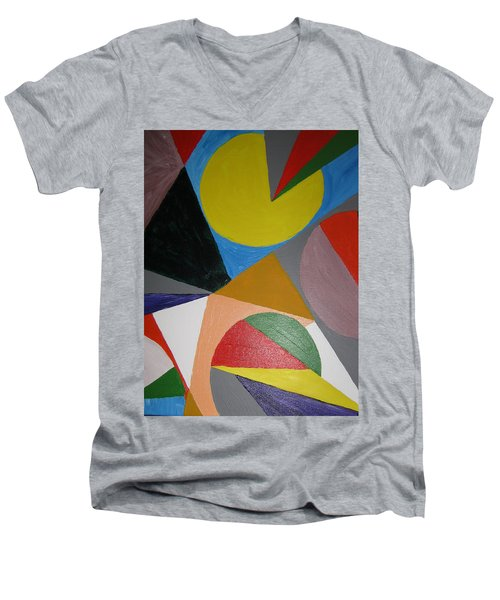 Accidental Pacman Men's V-Neck T-Shirt by Barbara Yearty