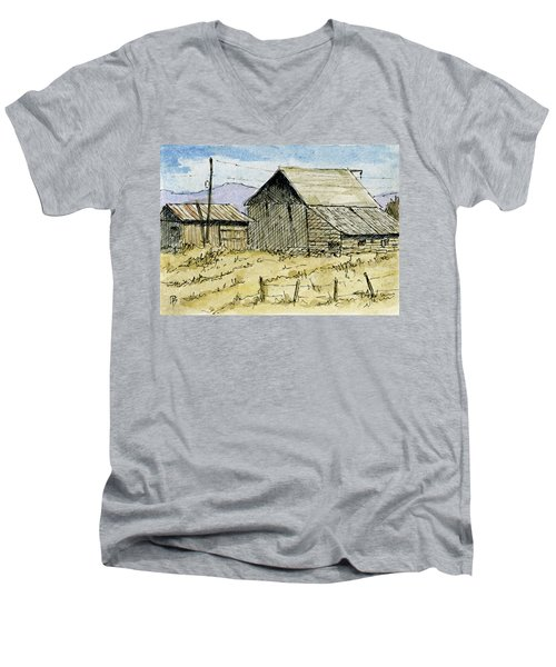 Aceo No 3 Two Barns Men's V-Neck T-Shirt