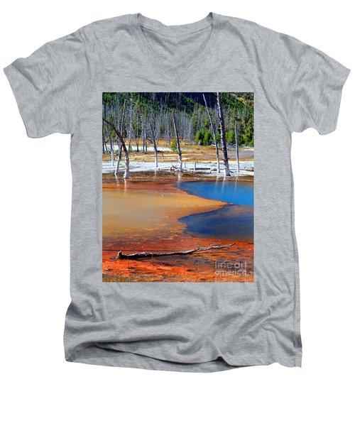 Acid Soup Yellowstone Men's V-Neck T-Shirt by Diane E Berry