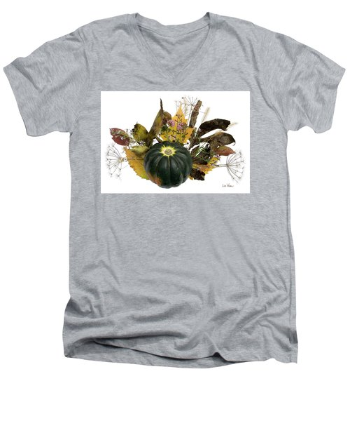 Acorn Squash Bouquet Men's V-Neck T-Shirt by Lise Winne