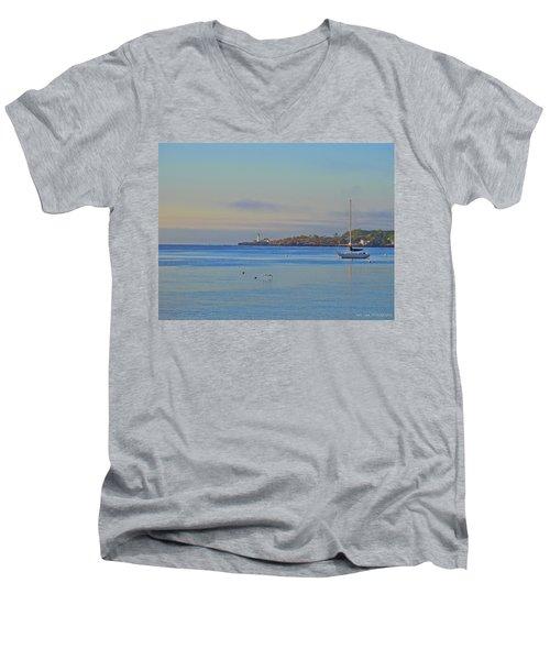 Across The Bay Men's V-Neck T-Shirt