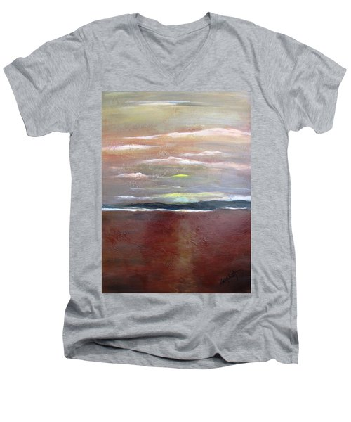 Across The Horizon Men's V-Neck T-Shirt