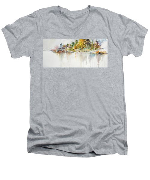 Across The Pond Men's V-Neck T-Shirt