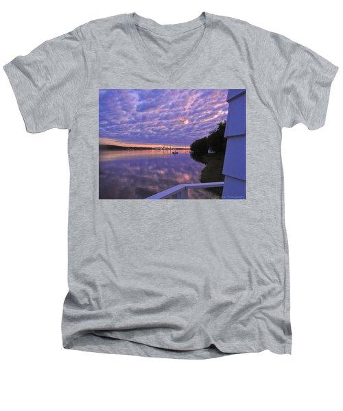 Across The River Men's V-Neck T-Shirt