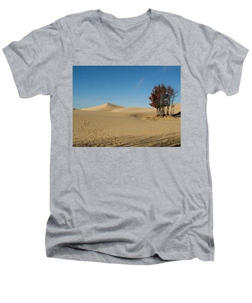 Men's V-Neck T-Shirt featuring the photograph Across The Sand 2 by Tara Lynn