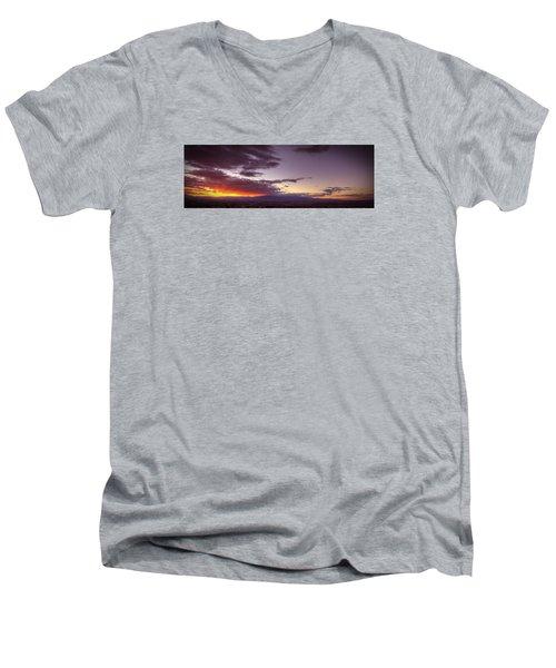 Across Vegas Sunset Men's V-Neck T-Shirt