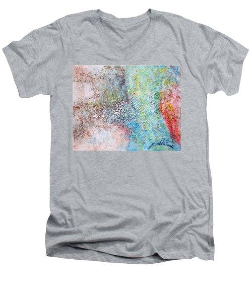 Abstract 201108 Men's V-Neck T-Shirt