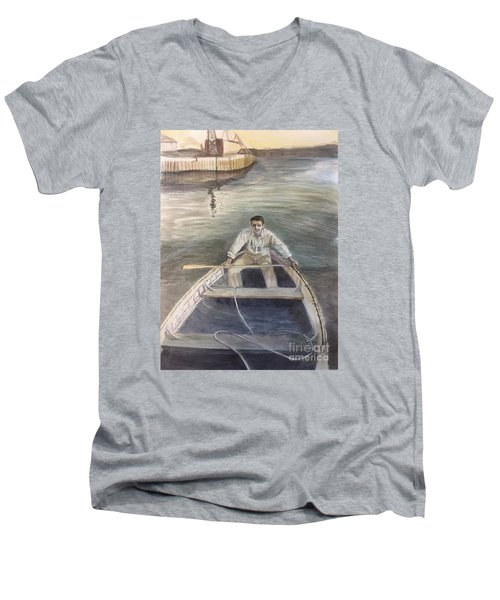Active Duty-1946 Men's V-Neck T-Shirt