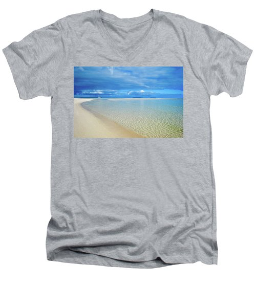 Adagio Alone In Ouvea, South Pacific Men's V-Neck T-Shirt