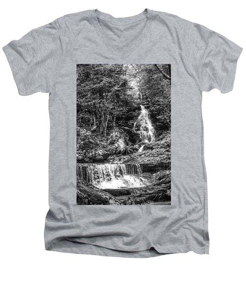 Adams Falls - 8867 Men's V-Neck T-Shirt by G L Sarti