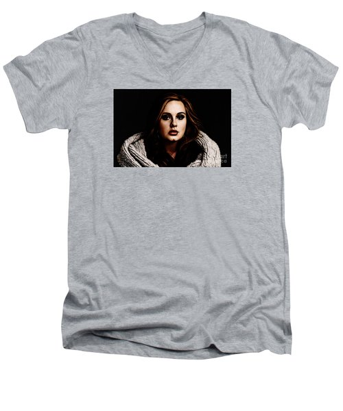 Adele Men's V-Neck T-Shirt by The DigArtisT