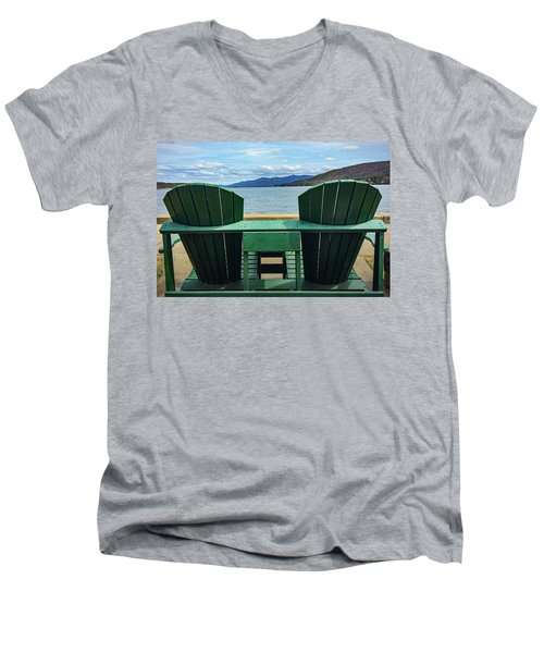Adirondack Chair For Two Men's V-Neck T-Shirt