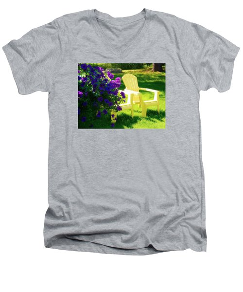 Adirondack Summer Days Men's V-Neck T-Shirt