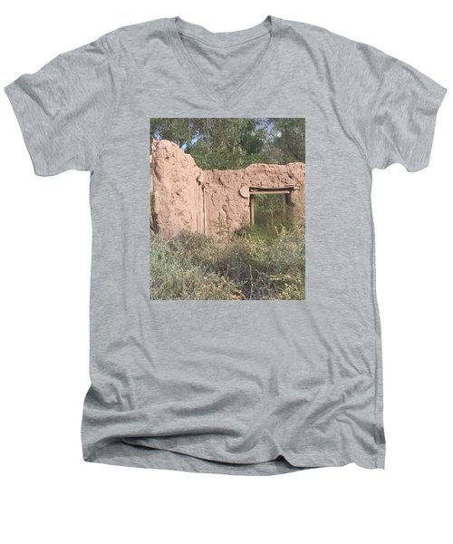 Adobe Men's V-Neck T-Shirt by Erika Chamberlin