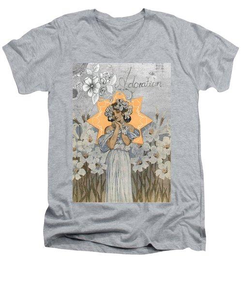 Adoration Art Deco Men's V-Neck T-Shirt