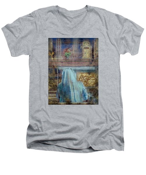 Men's V-Neck T-Shirt featuring the photograph Adoration Chapel 3 by Kate Word