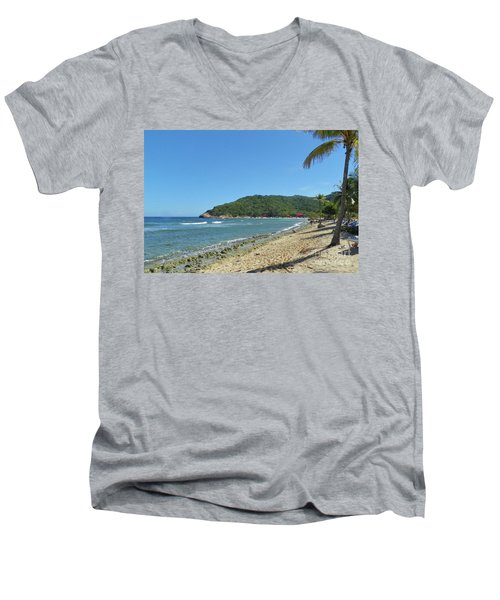 Adrenaline Beach Men's V-Neck T-Shirt by Carol  Bradley
