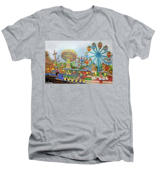 Adventureland Men's V-Neck T-Shirt