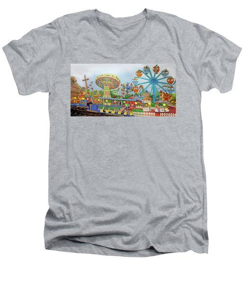 Adventureland Towel Version Men's V-Neck T-Shirt