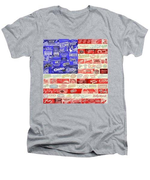 Advertising Flag Men's V-Neck T-Shirt