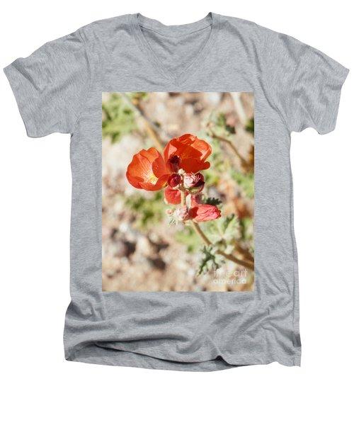 Aeon In Red Men's V-Neck T-Shirt
