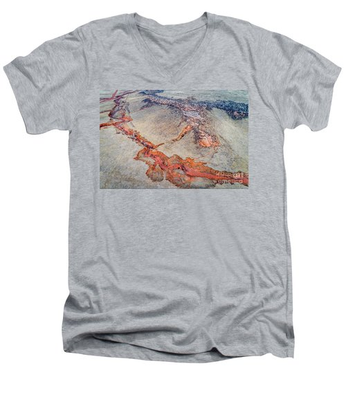aerial landscape abstract of Colorado foothills Men's V-Neck T-Shirt