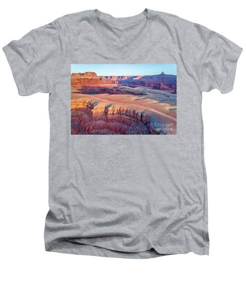 aerial view of Colorado RIver canyon Men's V-Neck T-Shirt