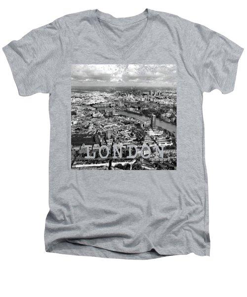 Aerial View Of London Men's V-Neck T-Shirt