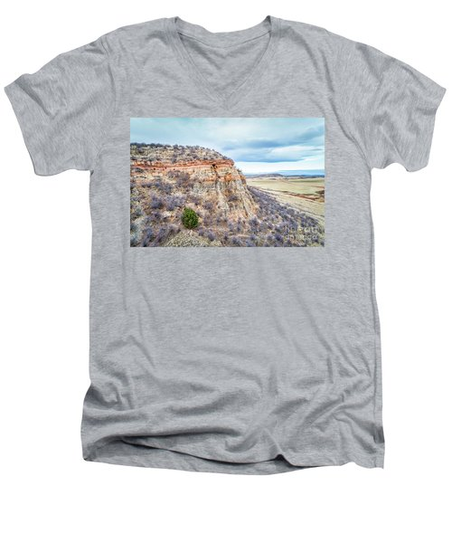 aerial view of northern Colorado foothills  Men's V-Neck T-Shirt