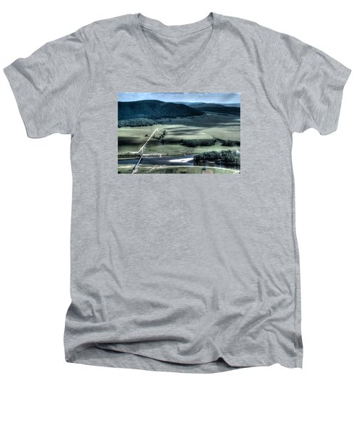 Aerial View Of Rolling Russian Hills Men's V-Neck T-Shirt by John Williams