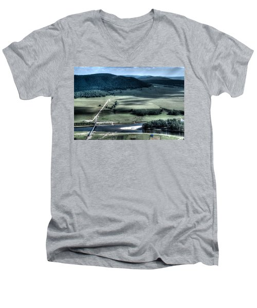 Aerial View Of Rolling Russian Hills Men's V-Neck T-Shirt