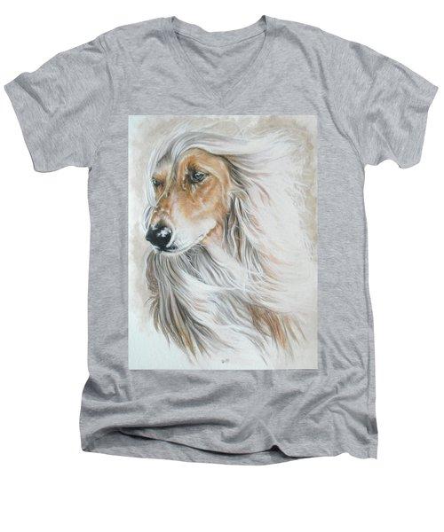 Afghan Hound Men's V-Neck T-Shirt