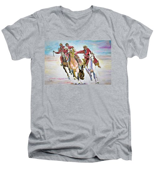 Afghan Sport. Men's V-Neck T-Shirt