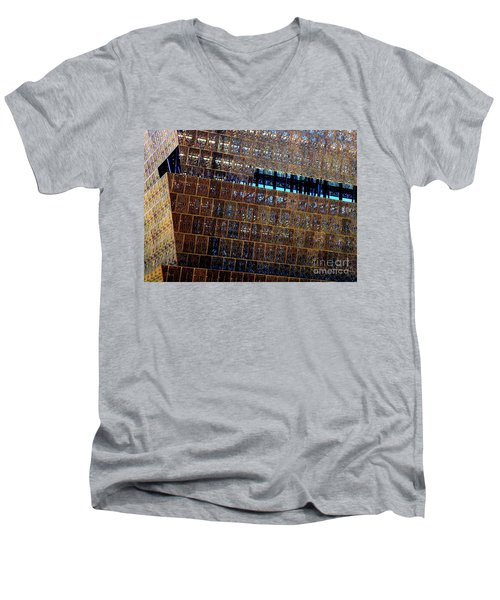 African American History And Culture 3 Men's V-Neck T-Shirt by Randall Weidner
