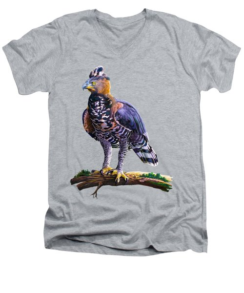 African Crowned Eagle  Men's V-Neck T-Shirt