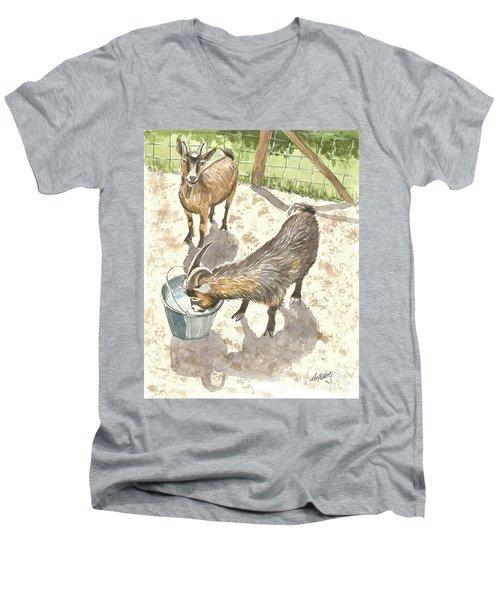 African Goats Men's V-Neck T-Shirt