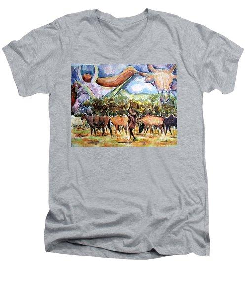 African Herdsmen Men's V-Neck T-Shirt