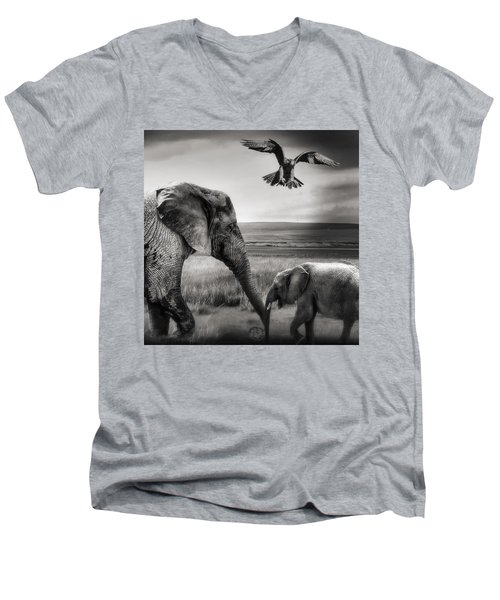 African Playground Men's V-Neck T-Shirt