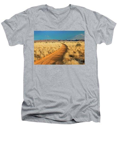 African Sand Road Men's V-Neck T-Shirt