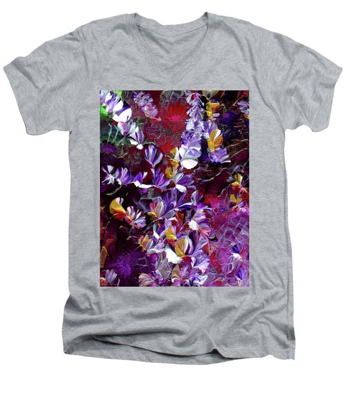 African Violet Awake #4 Men's V-Neck T-Shirt