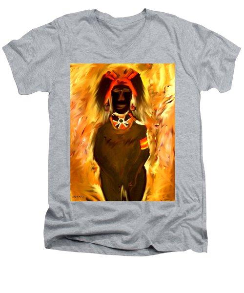 African Warrior Men's V-Neck T-Shirt