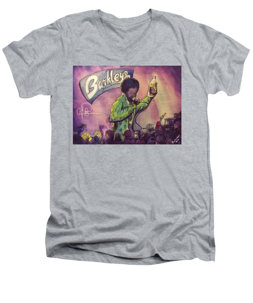 Afroman At Barkleys Men's V-Neck T-Shirt by David Sockrider