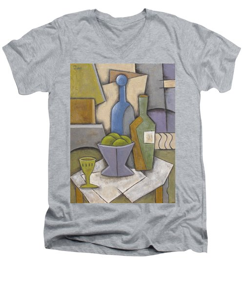 After Hours Men's V-Neck T-Shirt by Trish Toro