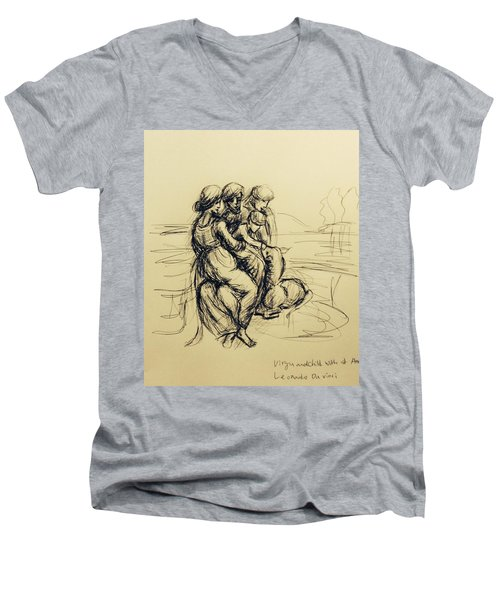 After Leonardo Da Vinci  Men's V-Neck T-Shirt